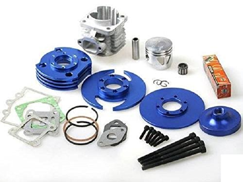 Big Bore 7 Tuning Motor Set Pocketbike Motor 49ccm Dirtbike Motor Set Blau Zylinder + Kurbelwelle + Zubehör Set