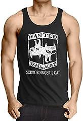 Gato de Schrödinger Wanted Camiseta de Tirantes para Hombre Tank Top Sheldon