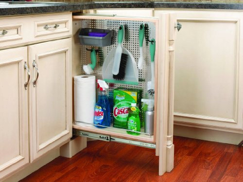 """Rev-A-Shelf 6"""" Base Stainless Steel Pullout Fillers, Natural"""