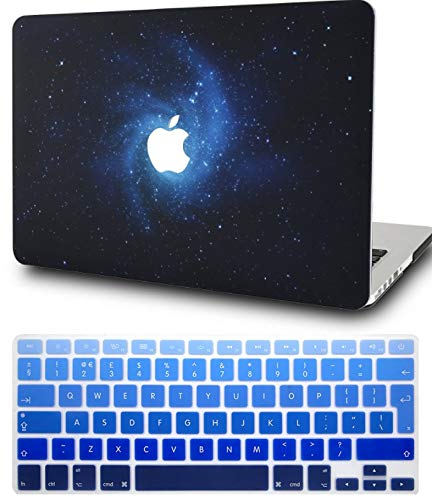 KECC Laptop Case for MacBook Pro 15' (2019/2018/2017/2016) w/ Keyboard Cover Plastic Hard Shell A1990/A1707 Touch Bar 2 in 1 Bundle (Blue)
