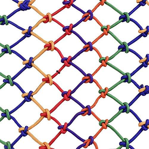 Veiligheidsnet voor kinderen in paarse kleur – ladder voor balkon valbeveiliging van nylon klimnet van nylon decoratief slijtvast anti-corrosienet wordt gebruikt