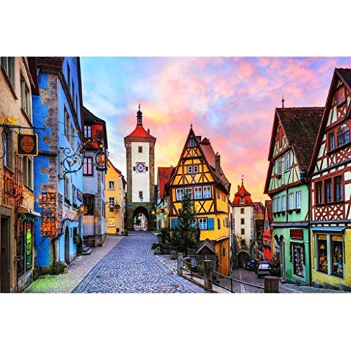 Adult Children Puzzle Toy Germany Rothenburg Landscape Wooden Jigsaw Puzzle Puzzle, 300/500/1000/1500 Pieces Puzzles Painting Art Game for Adults & Kids (Size : 1500PC)