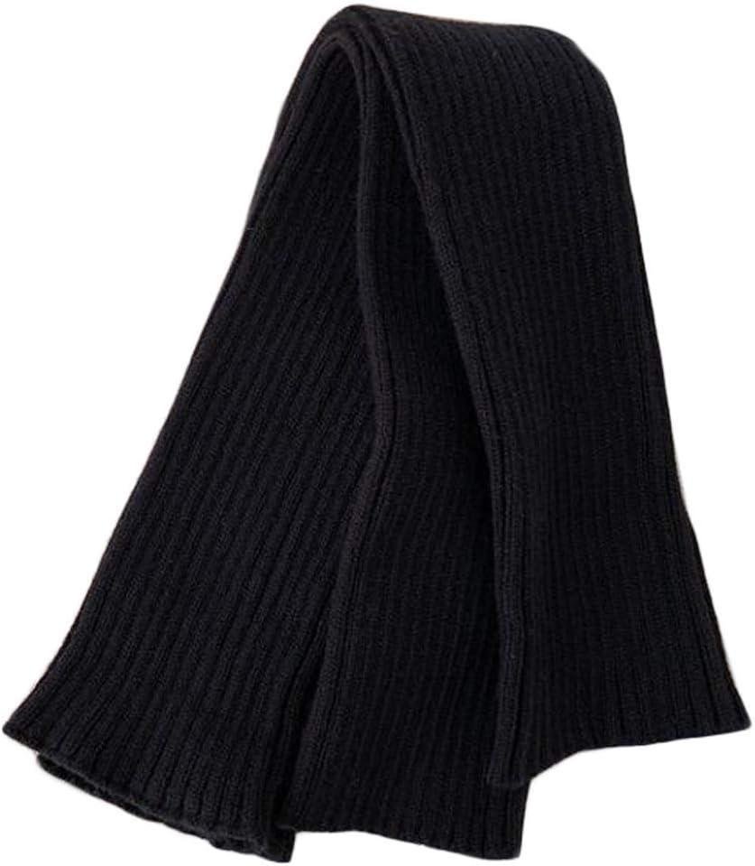 Panda Legends Womens Long Fingerless Gloves Knitted Arm Sleeve Winter Warm Over Elbow Mittens Thumb Hole Arm Warmer, Black