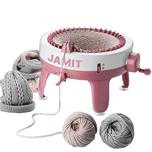 Máquina de tejer, telar inteligente de 40 agujas Telar redondo para tejer, juego de máquina de telar giratorio de doble punto para adultos y niños