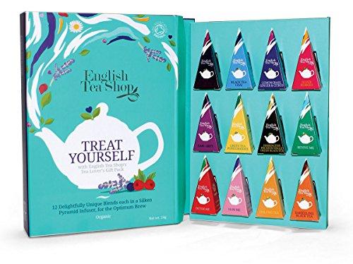 """English Tea Shop - Tee-Geschenk, Tee Kollektion """"Tea Moments"""" im Schmuckkarton, 12 verschiedene Tees in Pyramiden-Beutel, BIO"""