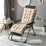 Cojín de espuma viscoelástica para silla mecedora de jardín, para oficina, comedor, cocina, con lazos, sillón, tumbona, respaldo reclinable