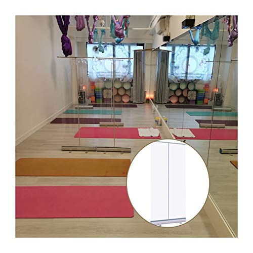 YJFENG Enrollar Bandera, De Pie Hoja De PVC Transparente, Barrera De La Pantalla del Parabrisas, con Bolsa De Viaje Portátil para Oficina Salón (Color : Claro, Size : 80x180cm)