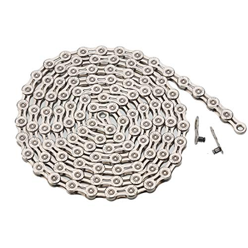 ZHIQIU FSC 11 Speed Universal Bike Chains,Lightweight,Center Hollowing out,116L,with Quick Link (Silver)