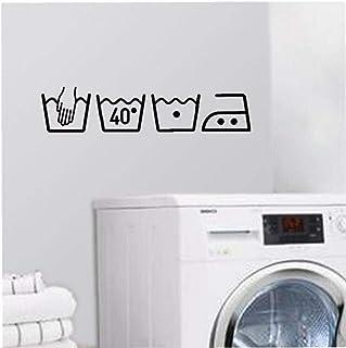 CULER 3D Lave-Linge Amovible Art Vinyl Mural Salle Home Decor Stickers muraux sur Le Mur pour Chambres blanchisserie Muraux