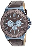 Guess Reloj analogico para Hombre de Cuarzo con Correa en Piel W0674G5