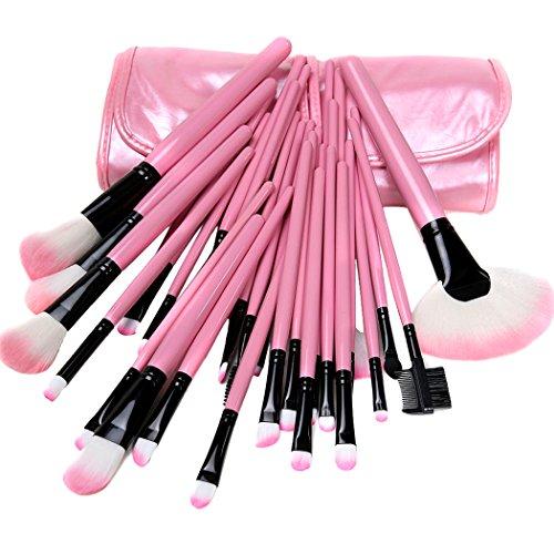Xiaoyu 32PCS mini kit de maquillage maquillage maquillage professionnel avec étui en cuir synthétique - rose