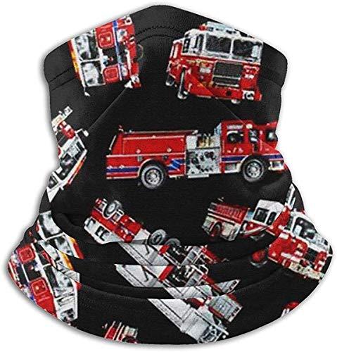 hon-ey WE Feuerwehr Unisex Mikrofaser Nackenwärmer Kopfbedeckung Gesicht Schal Maske Bandana Sturmhaube Winter Wetter Maske