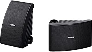 """NSAW392B YAMAHA 5.25"""" 40W Waterproof Speaker Yamaha - Black Outdoor NSAW392 Black 2-Way Suspension Design, Fluid-Cooled, Coated Soft Dome Tweeter for Clear High Frequency Sound"""