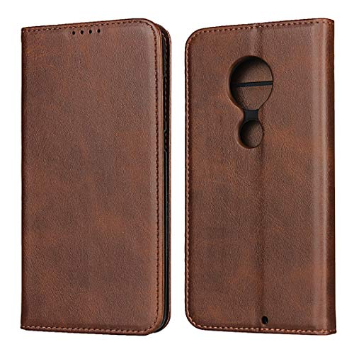 Flip Case Cover for Moto G7 (Dark Brown)