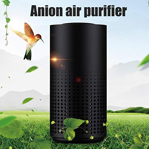 Bonbela Limpiador de Aire del Coche Mini purificador del Aire del ambientador de Aire Cleaner Portable Generador de Iones Negativos del ionizador para el Dormitorio Oficina