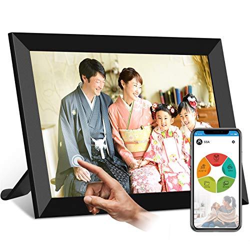 moonka wifi デジタルフォトフレームwifi対応 画面8インチ 人感センサー 1280*800高解像度 タッチパネル 写...