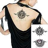 tzxdbh 3PCs-Blue Fashion Maschile Body Art Adulto Impermeabile Adesivo per Tatuaggi Clown Cranio Fumo Lettera Grande Formato Nero