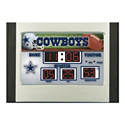 Team Sports America 6.5x9 Scoreboard Desk Clock - Dallas Cowboys