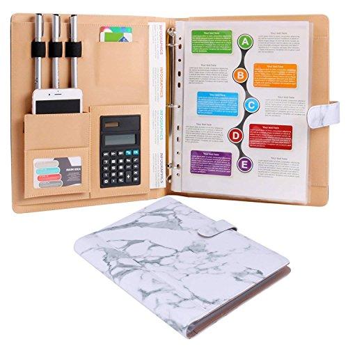 Cartelle portadocumenti formato fogli A4cartella documenti organizzatore porta biglietti e 8tasche file marmo modello Black DG