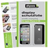 dipos I 4X Schutzfolie matt kompatibel mit iPhone 4 / 4S Folie Bildschirmschutzfolie (2X Vorder- und 2X Rückseite)