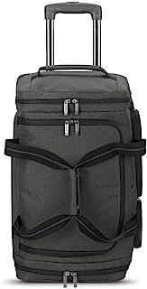 حقيبة سفر صغيرة بعجلات للسفر من سولو نيويورك وسط المدينة 22 بوصة حقيبة سفر بعجلات - 49 لتر، رمادي