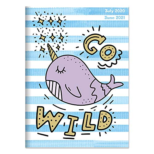 Go Wild Narwhal Medium 7.5 x 10.25 Monthly Planner (July 2020 - June 2021)