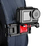 Owine Professional GoPro Backpack Strap Mount, Adjustable Camera Shoulder Mount Compatible with GoPro Hero 9 8 7 6 5 4 Black, Session, Insta 360 One R, DJI Osmo Action and Most Action Camera