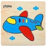 wiFndTu Juguete inteligente de madera para vehículos de avión, divertido y colorido, de alta calidad, juguetes creativos de rompecabezas, centro de actividades de regalo de Navidad para niños y niñas