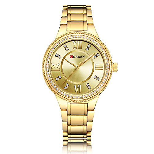 CURREN Wrist Watches for Women Girls Sports Waterproof...