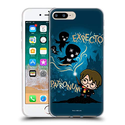 Head Case Designs Oficial Harry Potter Expecto Patronum Deathly Hallows III Carcasa de Gel de Silicona Compatible con Apple iPhone 7 Plus/iPhone 8 Plus