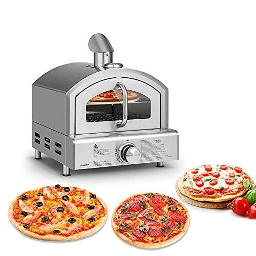 Horno de pizza a gas, horno de pizza al aire libre con piedra para pizza de 12 pulgadas, pizzero portátil de acero inoxidable para jardín, camping, fiesta, catering, patio trasero