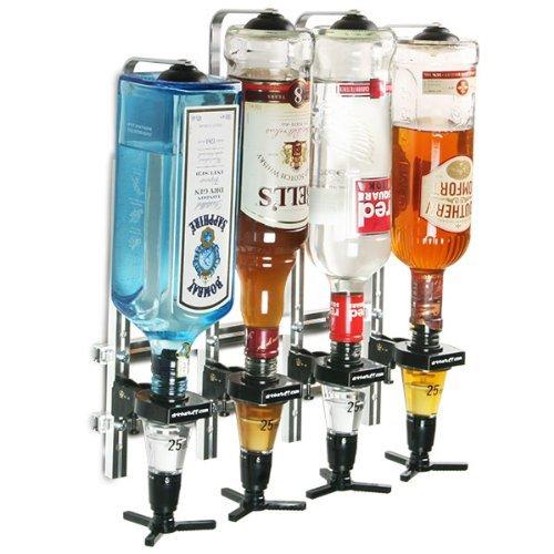 Oypla–4Barra de Botella montado en la Pared dispensador de Bebida espirituosa óptica medidor de Shot