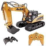 deAO RC Excavatrice Camion Pelleteuse Télécommande avec Extension Supplémentaire 2.4GHz Sync System pour Le Mode Multi Joueur