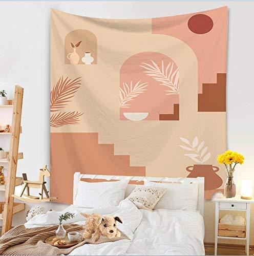 KHKJ Pintura Colgante de Pared Tapiz Manta Decoración Sala de Estar Arte Tapiz Alfombra Boho Toalla Colgante de Pared Macramé A11 95x73cm