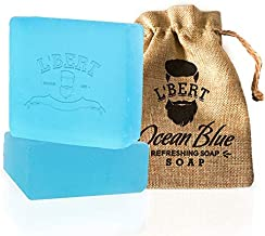 L'BERT Ocean Blue 100% Natural Organic Handmade Bath Soap | For Deep Cleansing, Refreshing & Long Lasting - 100 g (Paraben & Sulphate Free)