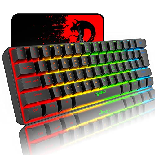 60% Mechanical Feel Gaming Keyboard,RGB Backlit...