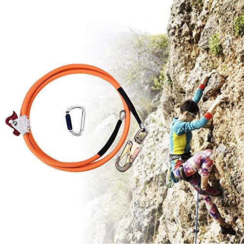 TOPQSC Kit Imbracatura di Sicurezza Con Nucleo D'acciaio 12mm*3.6m Corda di Sicurezza Con Regolatore a Moschettone Triple Lock Cordino Regolabile Basso Elasticizzato per Protezione Caduta