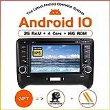 ZLTOOPAI Per AUDI TT MK2 Android 10.0 Autoradio GPS per auto Navigazione GPS stereo da 7 pollici Touch Screen Car Media Player Doppia unità testa Din