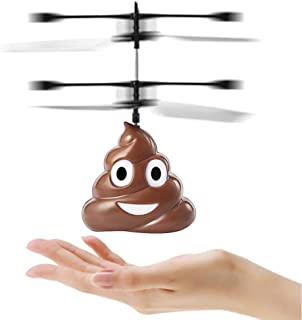 RC Flying Ball, Poop Shaped Infrared Induction Helicopter Ball Hovering Floating Flight Fantastic LED Kids Toys