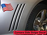 2010 2011 2012 2013 2014 2015 Chevy Camaro Grill Vent Blackouts Inserts Vinyl Graphic Decal Stripes - Color: BLACK