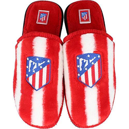 Andinas - Zapatillas de Estar por casa Oficial Atlético de Madrid - Rojo-Blanco, 43