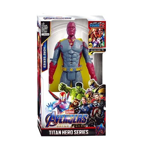 12''/30cm Marvel Avengers Hulk Capitán América Spiderman Wolverine Venom Iron Man Thor Groot Figuras de Acción Juguete para Regalos de Niños (Vision with Box)