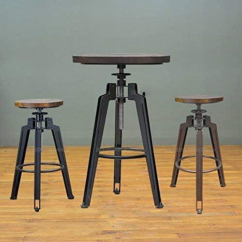JZX Stühle Hocker Lifüretro anhebbarer Massivholztisch mit Stuhl , High-End-Atmosph  Stuhl Hocker