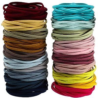 200 Pieces Seamless Hair Bands Elastic Hair Rope Ponytail Hair Ties Flat Desig (Multicolor)