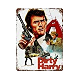 Blechschild, Motiv: Dirty Harry Clint Eastwood Filme,