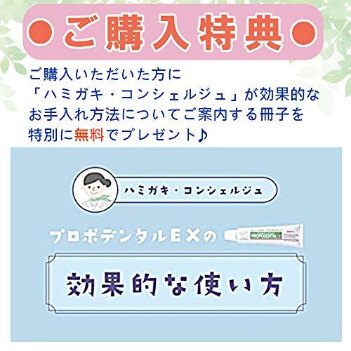 【医薬部外品】プロポリス配合薬用歯みがきプロポデンタルEX(80g)歯周病予防歯磨き粉口臭ケアホワイトニング