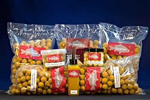 CarpCon Futterpaket 'Scopex Sweetcorn' Groß mit 5 kg (!) Boilies, Bait Smoke, Pop-Ups & Hookbaits - Rabattpaket für Karpfenangler