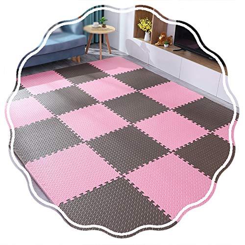 YANGJUN Puzzle Tapis Mousse Bébé Protection Imperméable Antidérapant Doux Épaissir Chambre, 4 Combinaisons (Color : A, Size : 60x60x2.0cm-16pcs)