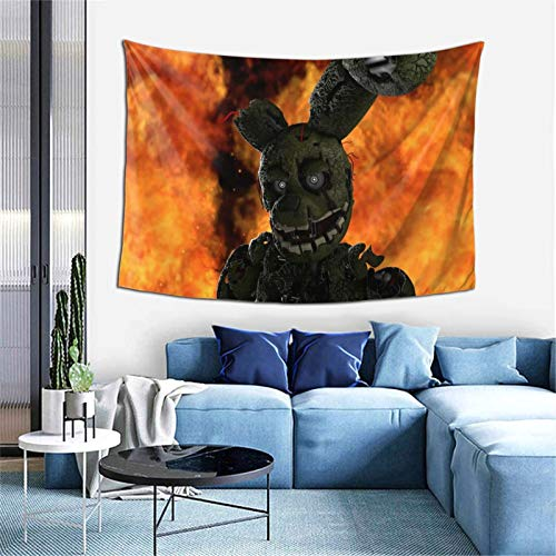 Five Nights at Freddy's Tapestry Blanket Window Drape Home Decor Curtain Covering Bedroom Collage Dorm Office 60X40 inch