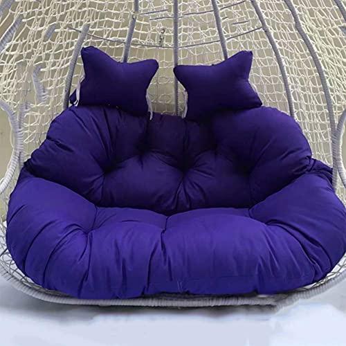 Cojín grande doble de la silla del oscilación para el exterior engrosar colgante huevo hamaca silla cojín sobrerelleno redondo Papasan silla cojín con almohada L
